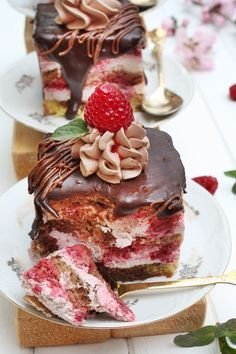 Angel's food: Prajitura cu ciocolata si zmeura