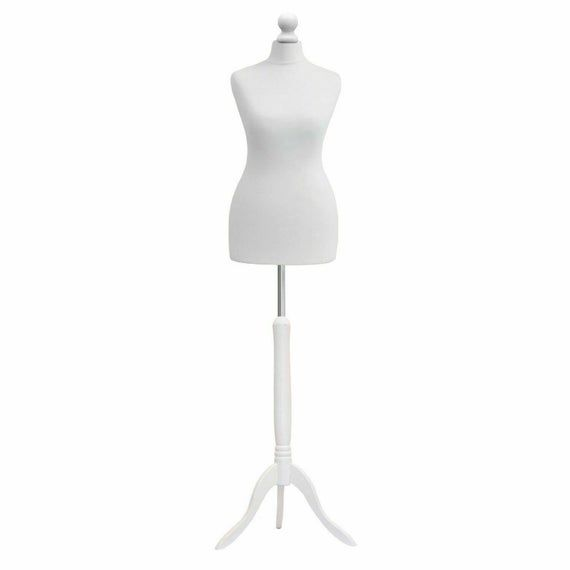 DELUXE FEMALE SIZE 14 Dressmakers Dummy Mannequin Tailor CREAM Bust BLACK Stand