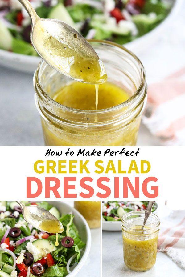 Dieses griechische Salatdressing schmeckt besser als jede im Laden gekaufte Version …   – Vegetarian