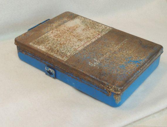 Vintage Unused Johnson & Johnson General First Aid Kit Metal