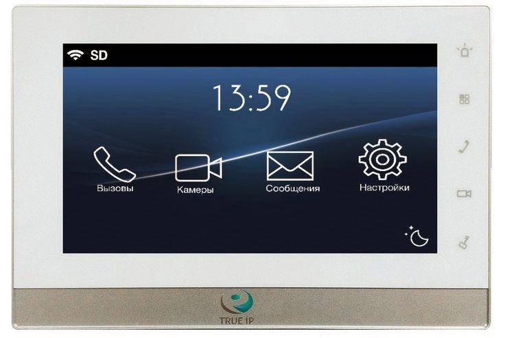 """True IP Systems TI-2750WS (белый с серебром) TI-2750WS (белый с серебром) Цветной IP-монитор TRUE-IP TI-2750WS оборудован 7"""" дисплеем емкостного типа с разрешением 800х480 точек. Для быстрого управления имеются 5 сенсорных клавиш. Устройство обеспечивает прием вызова и двухстороннюю связь с IP вызывными панелями, другими IP-мониторами или пультом консьержа. Модель может осуществлять запись аудио, фото и видео с IP вызывной панели или подключенных IP-камер на карту памяти стандарта microSD…"""