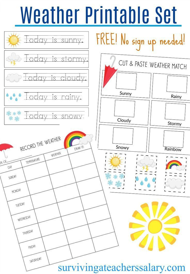 Record The Weather Writing Practice Weather Match Game