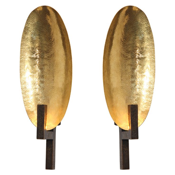 Contemporary Bronze Sconce by Hervé van der Straeten | From a unique collection of antique and modern wall lights and sconces at http://www.1stdibs.com/furniture/lighting/sconces-wall-lights/