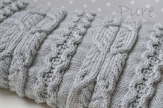Pure Hand Knits by Linda Whaley. Worked in any DK yarn on 4mm (US#6) needles. I have included instructions to knit this blanket in 3 sizes so you can all enjoy snuggling up under this one. 1.- Baby blanket Width 62cms (24 1/2 inches) X Length 85cms (33 1/2 inches) 2. Medium blanket/throw Width 92cms (36 inches) X Length 133cms (52 1/2 inches) 3. Large blanket/throw Width 126cms (491/2 inches) X Length = 181cms (72 inches)  The blankets shown here are knitted...