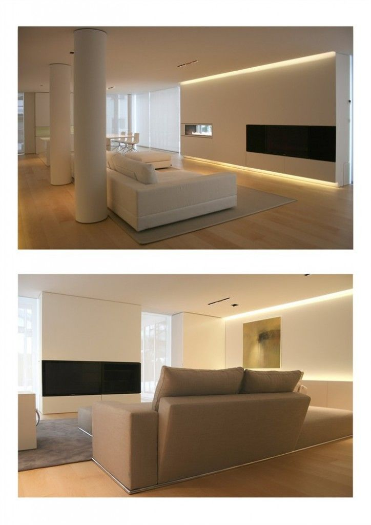 M s de 25 ideas incre bles sobre iluminaci n indirecta en - Iluminacion led salon ...