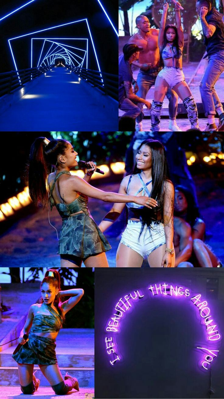 Ariana Grande and Nicki Minaj Lockscreen/Wallpaper