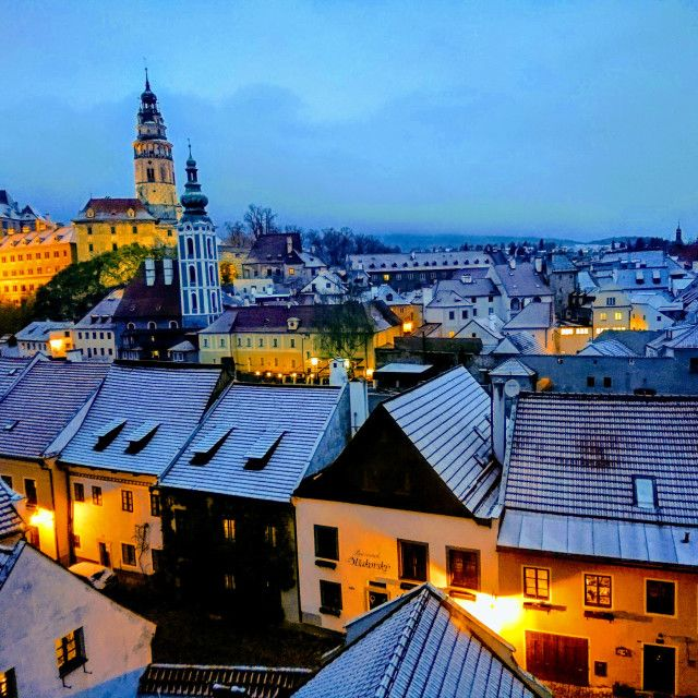'Cesky Krumlov winter evening' on Picfair.com