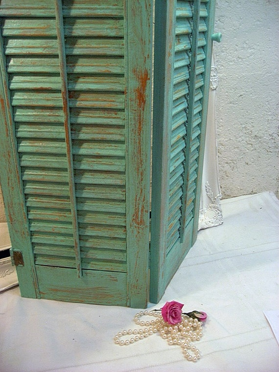 25 best ideas about distressed shutters on pinterest - Shutters for decoration interior ...