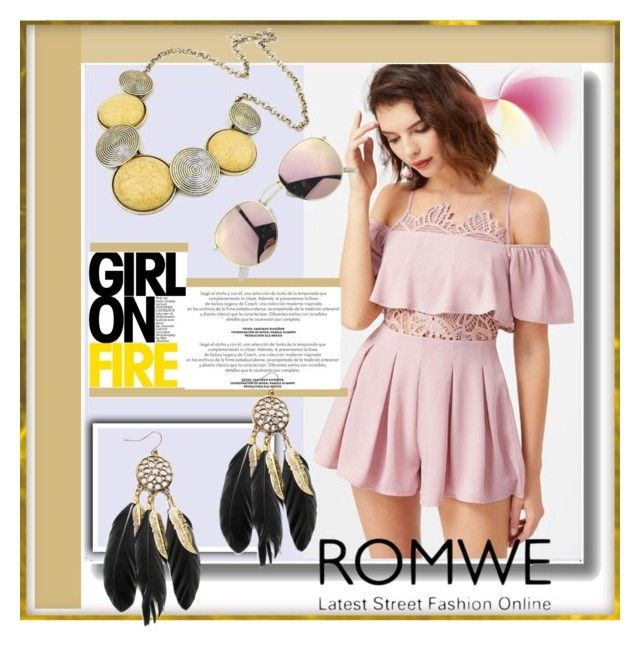 """Romwe 2"" by crvenamalina ❤ liked on Polyvore"
