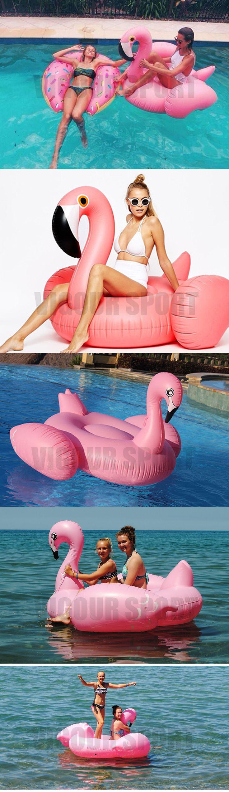60-pulgadas-15-M-gigante-cisne-Flamingo-montar-en-la-piscina-flotador-juguete-in