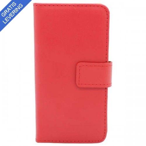 Rødt Læder Etui Til iPhone 6