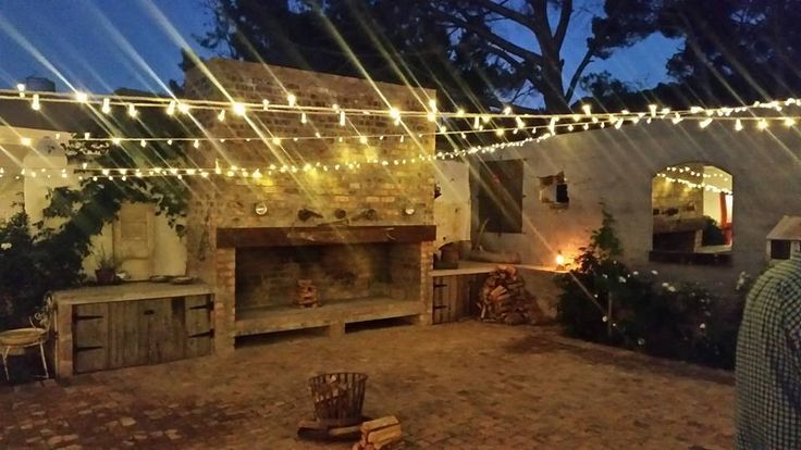 The Barn Courtyard @ Winery Road Forest Fairy lights - #forestweddings