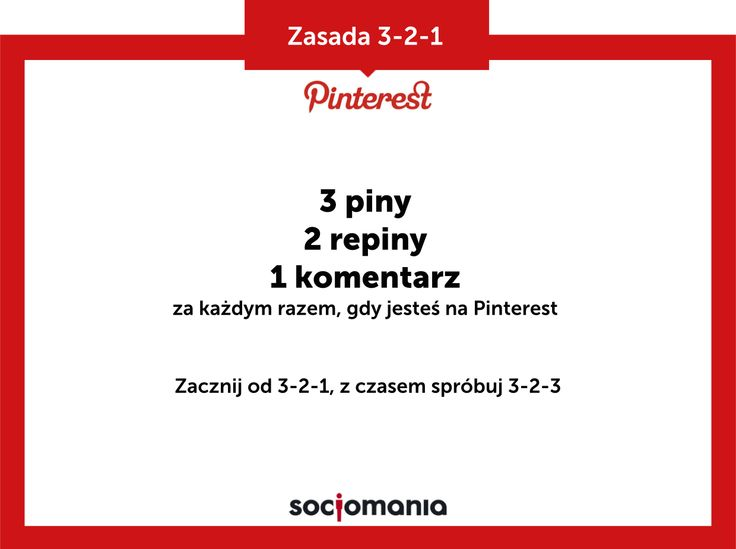 Zasada  3-2-1 dla Pinterest. #pintereststrategy #pinteresttips #pinterest #socialmedia