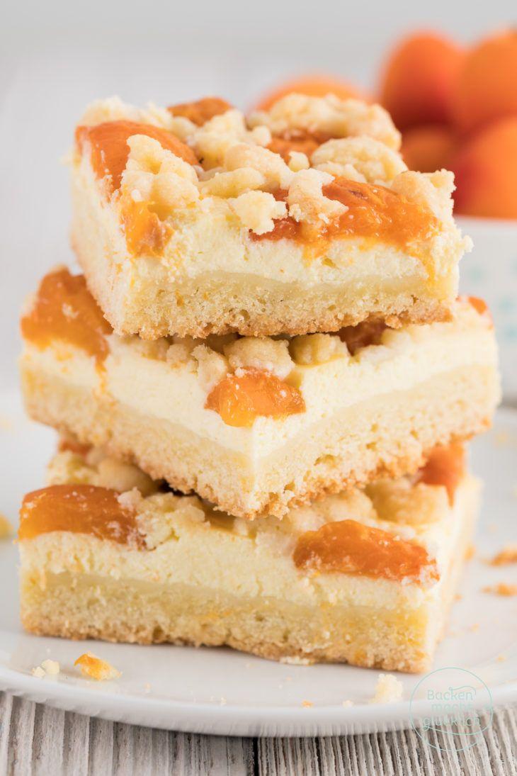 Aprikosenkuchen mit Quark und Streusel