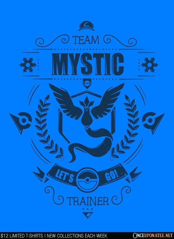 Team Mystic (Navy) is available on t-shirts, hoodies, tank tops, and more until 7/18 at OnceUponaTee.net starting at $12! #Fashion #Apparel #Pokemon #PokemonGo