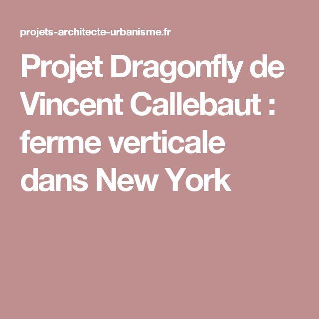 Projet Dragonfly de Vincent Callebaut : ferme verticale dans New York