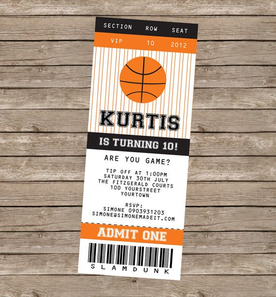 basketball party decorations invitations full printable package
