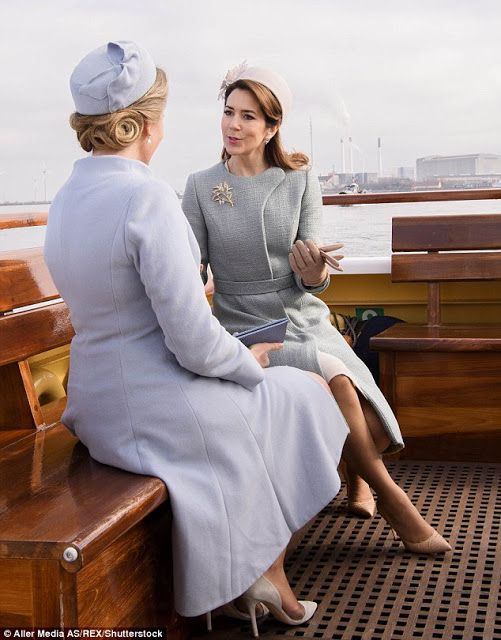 Realmyroyals:  Belgian State Visit to Denmark, March 28, 2017-Queen Mathilde and Crown Princess Mary