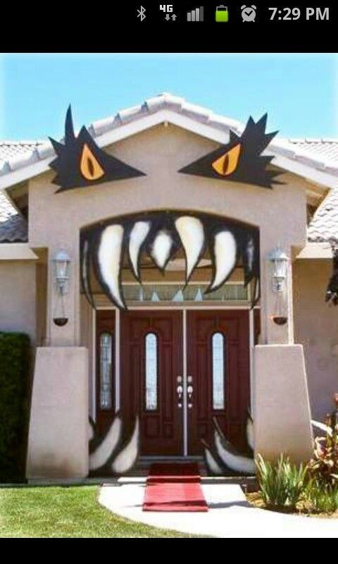 Halloween outdoor decoration idea halloween for Pinterest halloween outdoor decorations