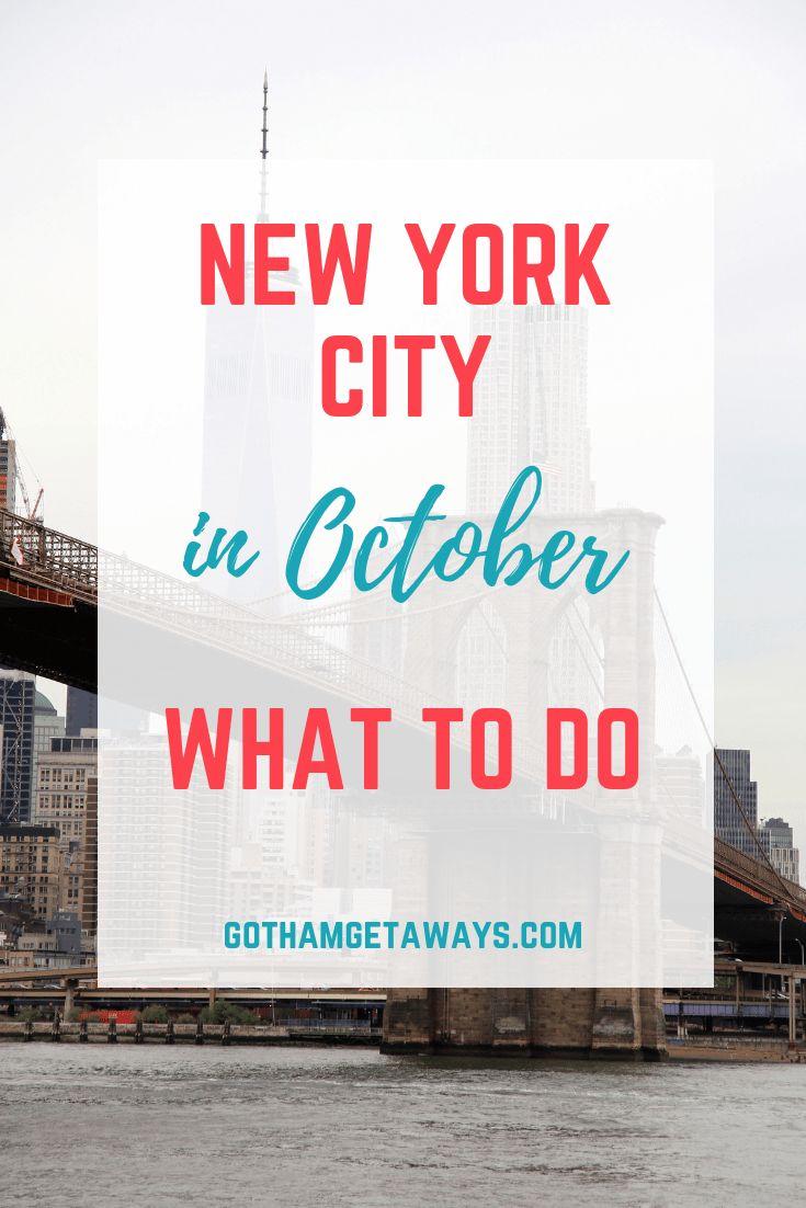 October in New York City