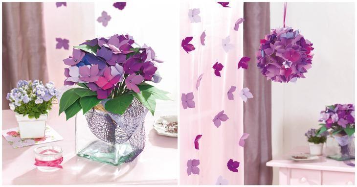 Такие прекрасные гортензии будут цвести для вас круглый год, радуя яркими красками.От светящейся голубизны до нежных фиолетовых оттенков – один за другим распускаются многочисленные цветки в пышных ша...