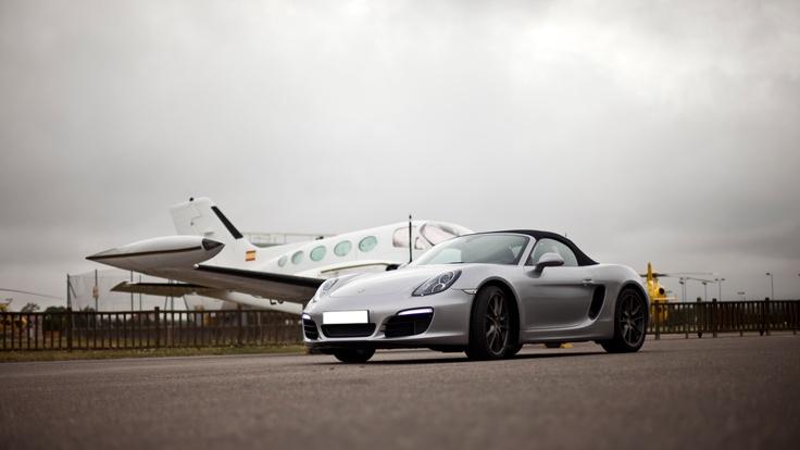 Aeronaves de todos tipo acompañaron al nuevo Boxster S durante nuestra sesión fotográfica