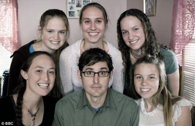 Members and ex-members of the WBC or Westboro Baptist Church with journalist and documentary maker Louis Theroux. From left to right, Jael Phelps, ?, Libby Phelps, Megan Phelps, Lauren Drain and Louis Theroux. (As of 12th Nov 2013 I believe Jael Phelps and ? are still members. Megan, Lauren and Libby have left the fundamentalist religious group)