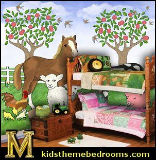 girls farm themed room | Cowgirl Theme Bedrooms | How to Create a Pony and Horse Theme Room
