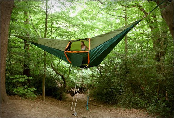 tentsile suspended tents! set-up might be hard, but it looks like a dream to sleep in. http://www.tentsile.com/gallery.html