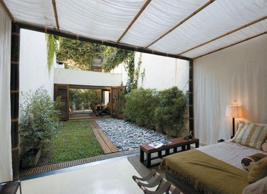 decoracion un patio interno con deck pileta y parrilla blog y
