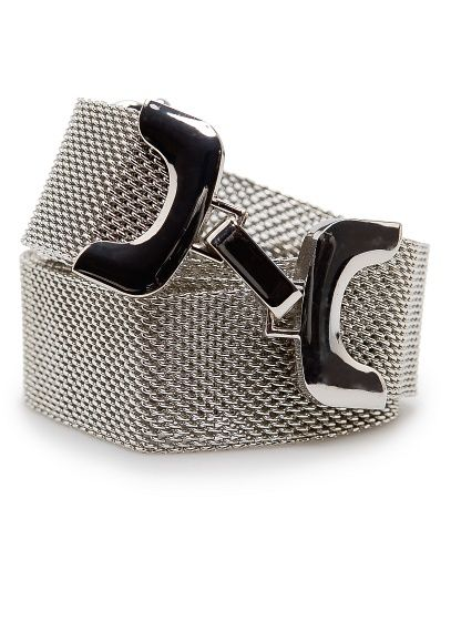 MANGO - Hook mesh belt