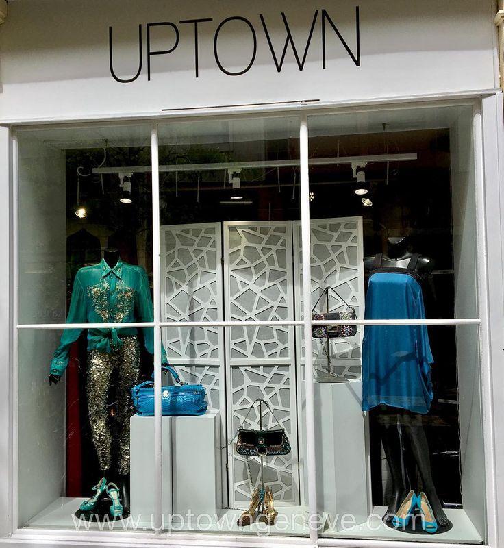 A little sunday aqua blue  . . Shop the window!   #Versace shirt t44 #IsabelMarant pants t34 #Fendi aqua platforms p36 #RobertoCavalli aqua pythonbag #DolceGabbana evening bag & shoes p38.5 #Fendi denim beaded baguette bag #BottegaVeneta aqua silk dress t36/38 #SergioRossi aqua wedges p38.5. @uptowngeneve 32 rue de Monthoux #Genève  @sergiorossi @roberto_cavalli @bottegaveneta @fendi @versace_official @isabelmarantetoile #aqua#blue#sparkle#sequin