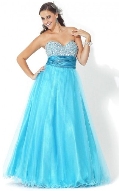 Lace-up Floor-length Princess Empire Sweetheart Formal Dresses mdea7750
