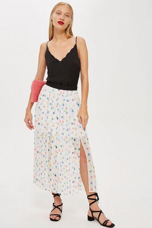 2f326f74c5b09 Watercolour Spot Pleated Midi Skirt in 2018   Love it!   Pinterest ...