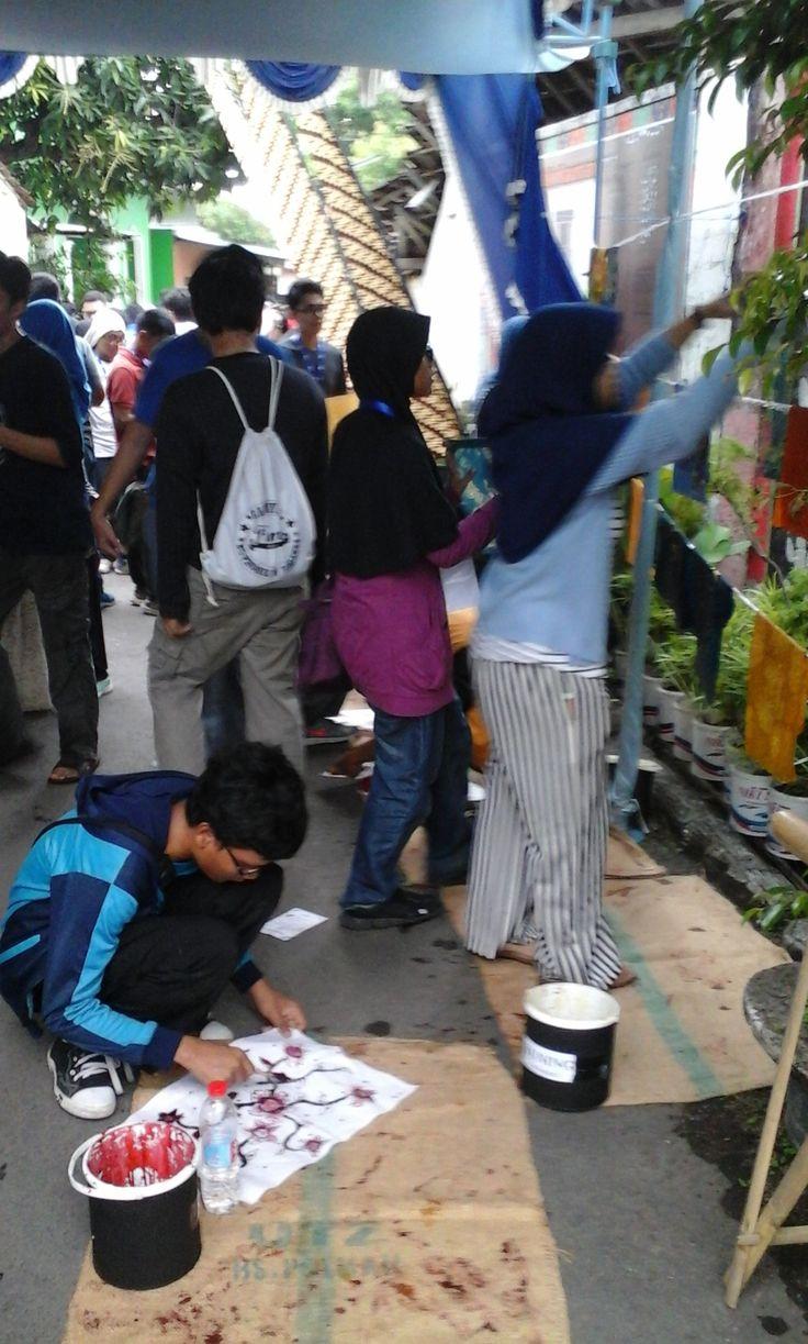 Pelatihan Batik Siswa-siswi SMA N 1 Depok