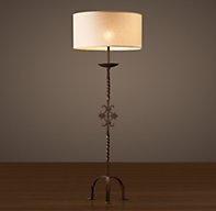 French Andiron Floor Lamp From Restoration Hardware