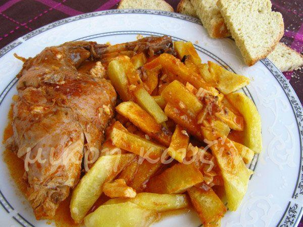 μικρή κουζίνα: Kουνέλι ζακυνθινό με ντόπιο λαδοτύρι