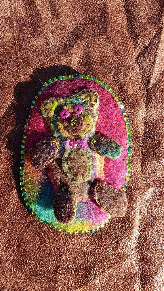 Teddy bear pin