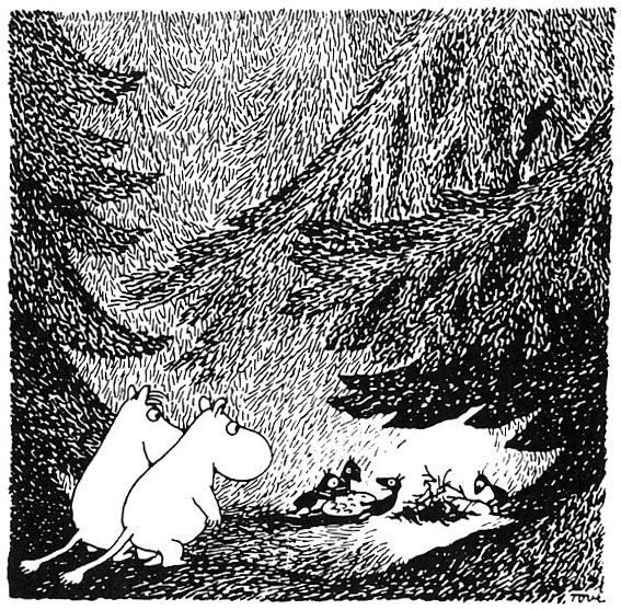i love all those small creatures in the moomin valley