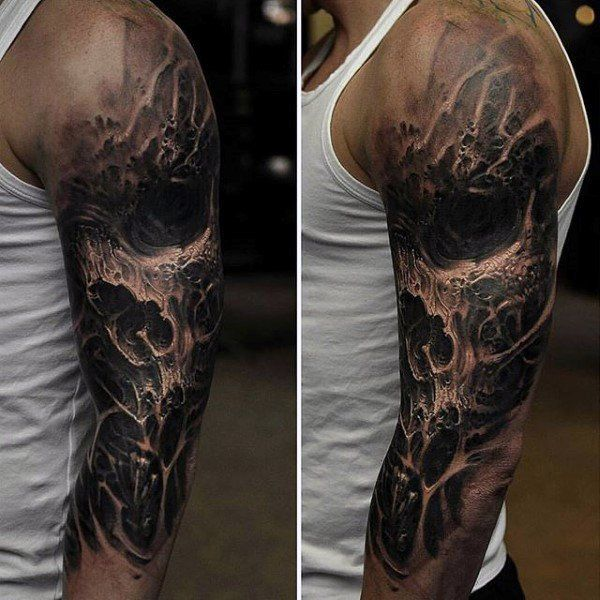 3 4 Sleeve Tattoo Evil Brought To You By Smart E Tattoo
