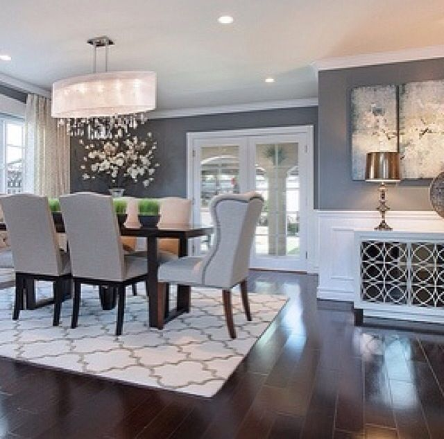 25 best ideas about dining room colors on pinterest for Dining room grey walls
