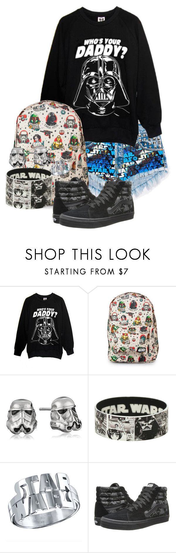 """""""Star Wars Themed Outfit"""" by demiwitch-of-mischief ❤ liked on Polyvore featuring Hot Topic and Vans"""