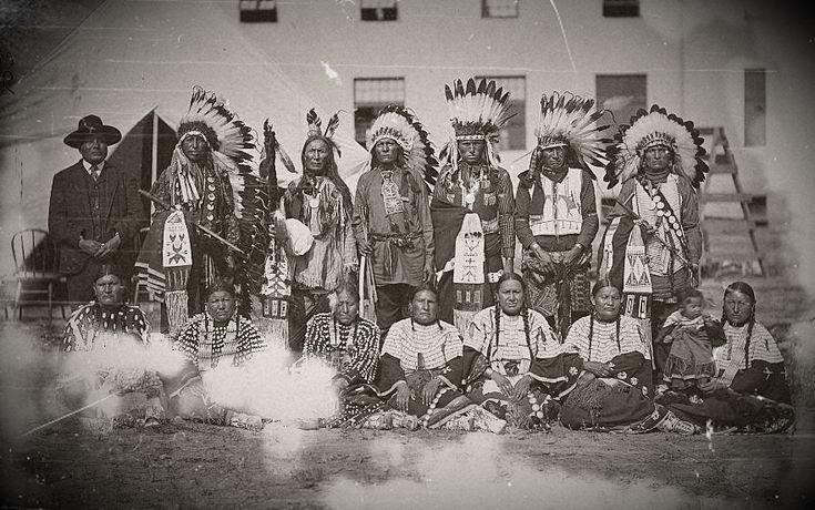 Sicangu Lakota group from Rosebud Reservation in South Dakota ,no date