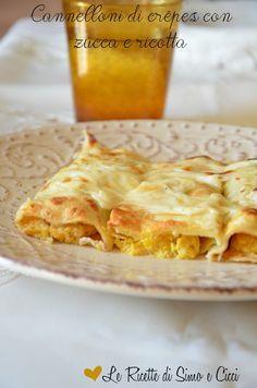 Cannelloni di crêpes con zucca e ricotta