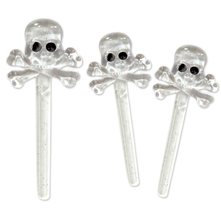 Skull Picks (12) - Cake Picks from BirthdayExpress.com