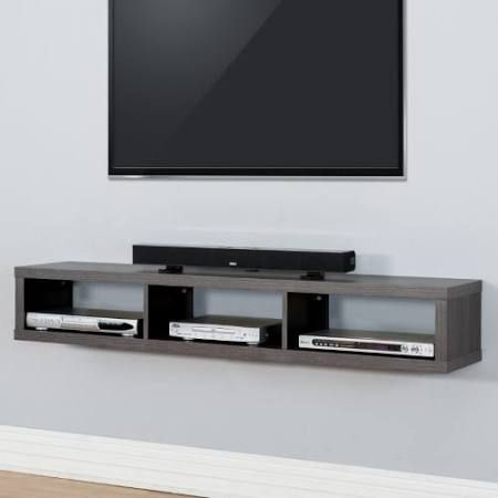 Wall Unit For Cable Box Google Search Hauses In 2019 Mounted Tv Console Mount Stand Shelf