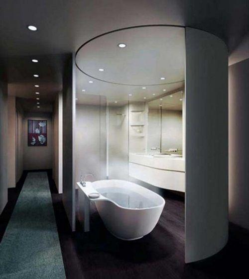 impressive modern bathroom ceiling and wall lighting ideas