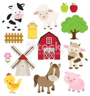 Farm Animals Royalty Free Stock Vector Art Illustration