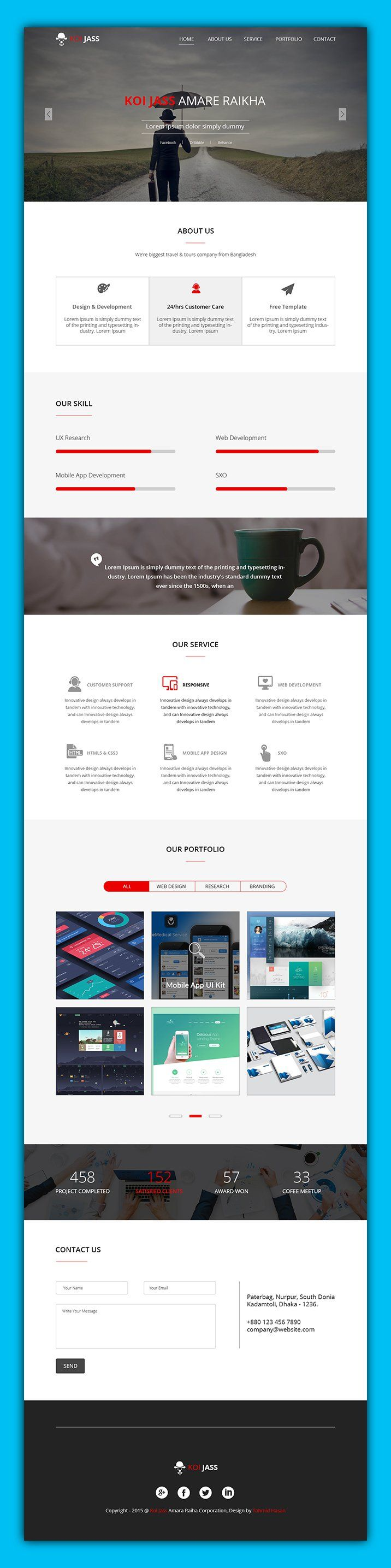 25 unique best free website templates ideas on pinterest best best single page website templates psd free pronofoot35fo Images