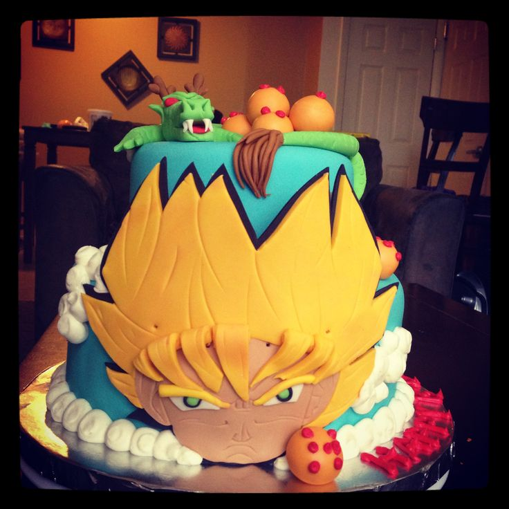 24 best images about dragonball z birthday party ideas for Decoration murale dragon ball z